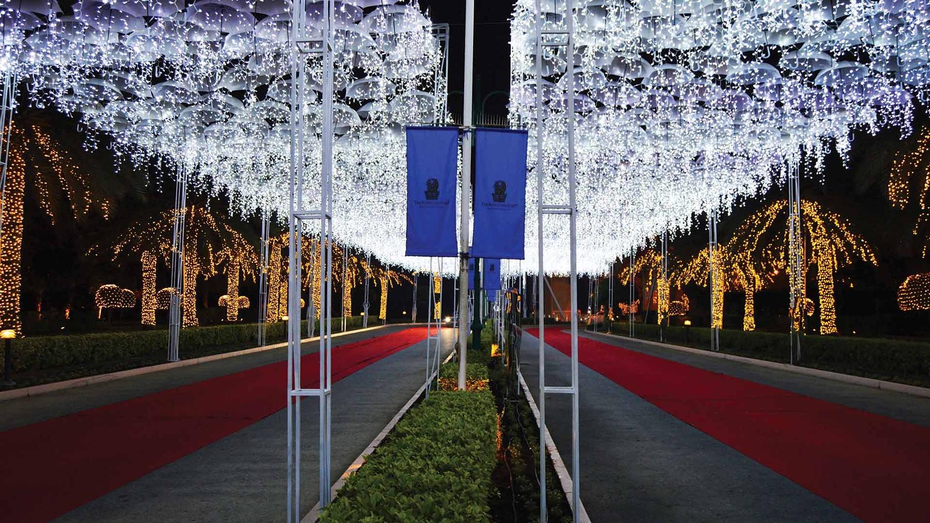 Christmas Umbrella Sky Project  - Manama'15