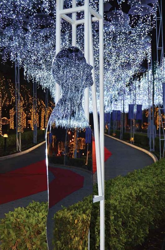 Christmas Umbrella Sky Project  - Manama'152