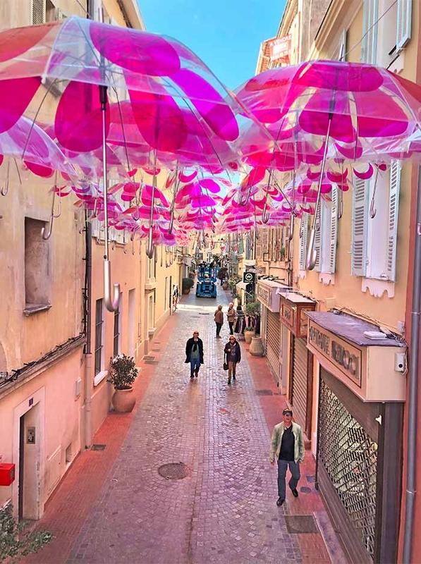 Pink Flower Power Umbrella Sky - Sanary-sur-Mer'191