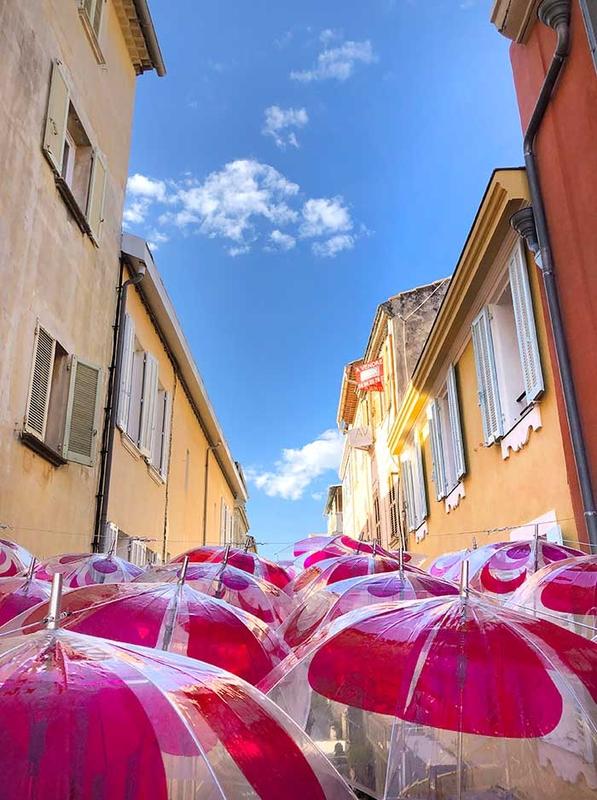 Pink Flower Power Umbrella Sky - Sanary-sur-Mer'192