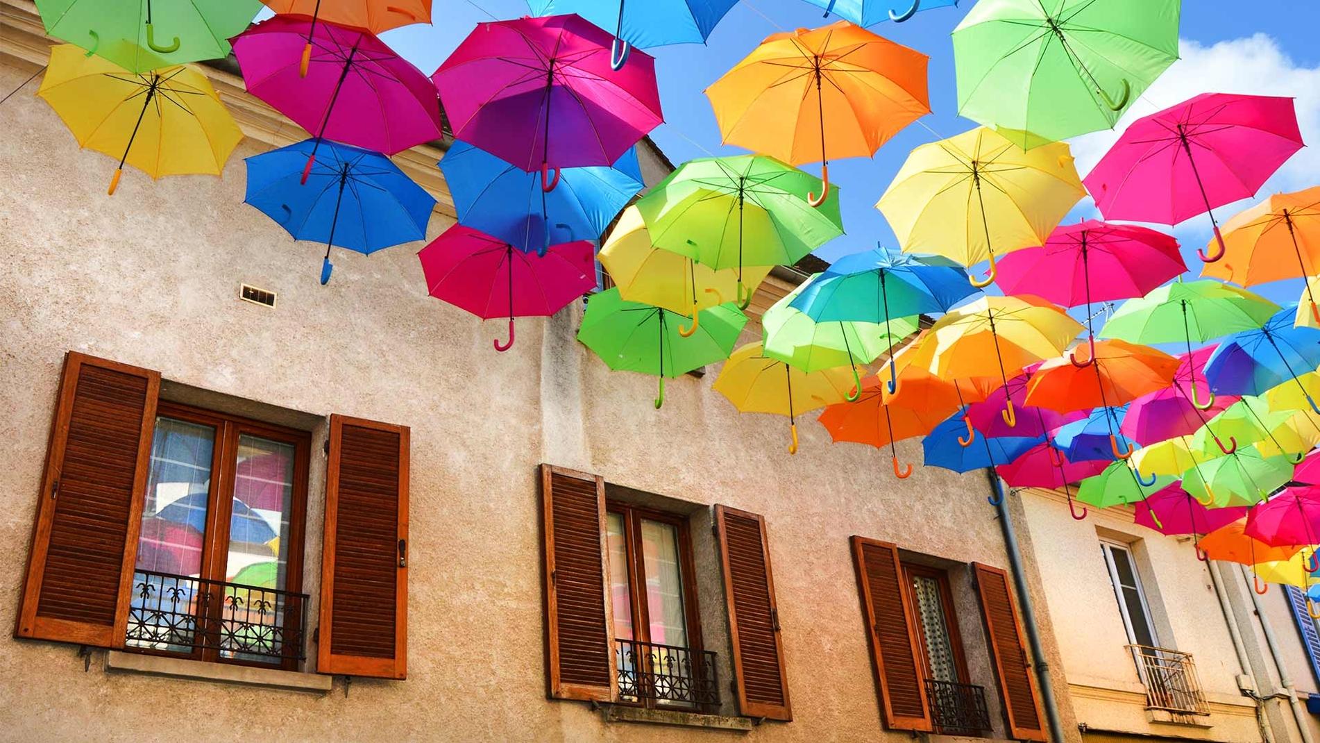 Umbrella Sky Project - Verrieres-les-Buissons'17