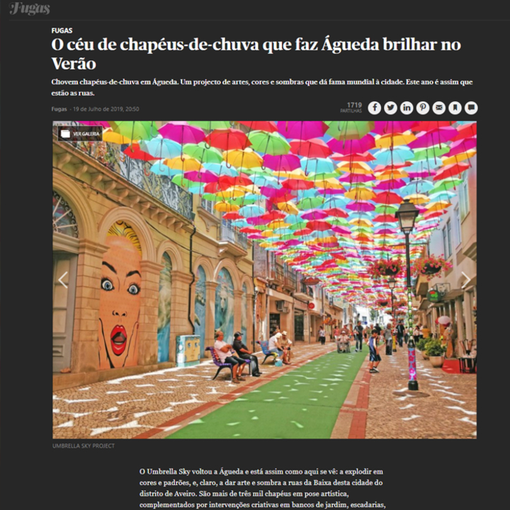 The umbrella sky that makes Águeda shine in the summer!