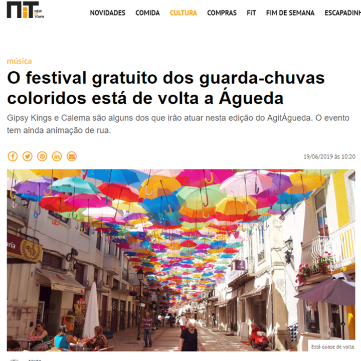 The free festival of colorful umbrellas is back in Águeda