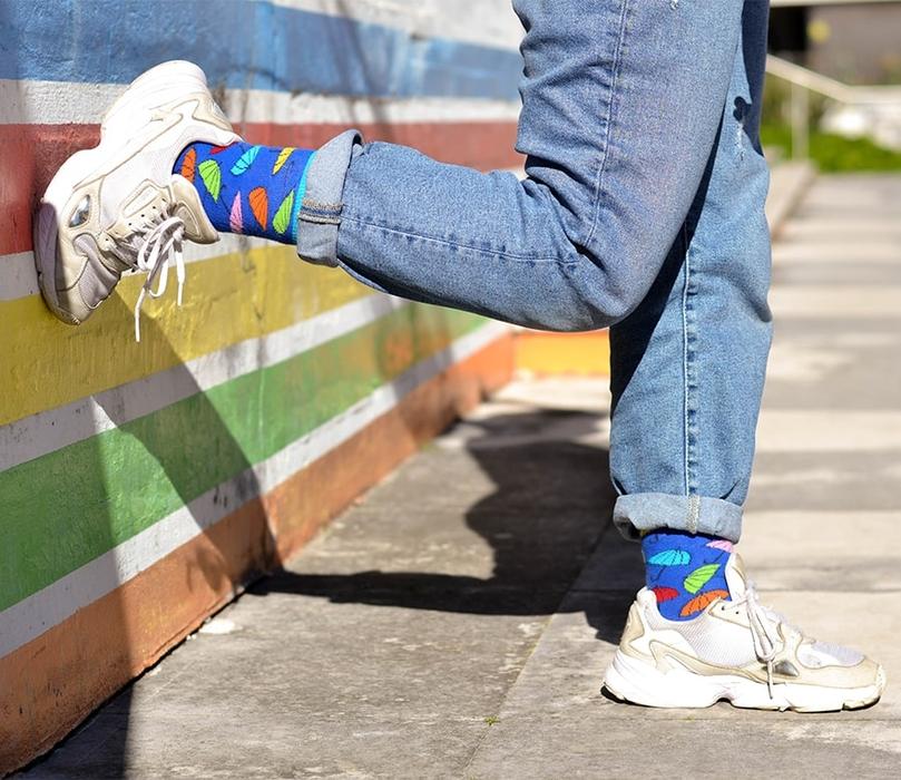 "Socks ""Colorful Umbrellas"" 1"