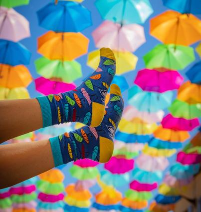 "Socks ""Colorful Umbrellas"""