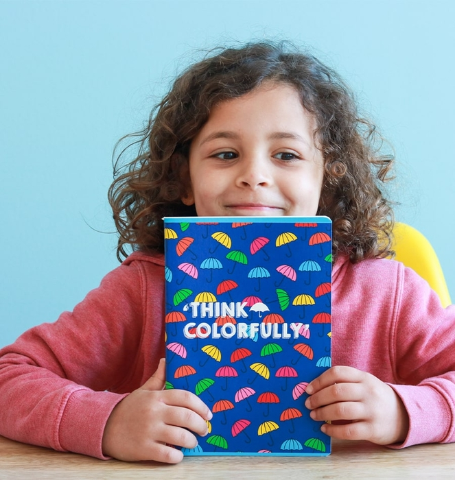 """Colorful Umbrellas"" Notebook"