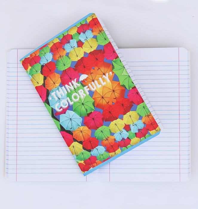 """""""Think Colorfully"""" Notebook"""
