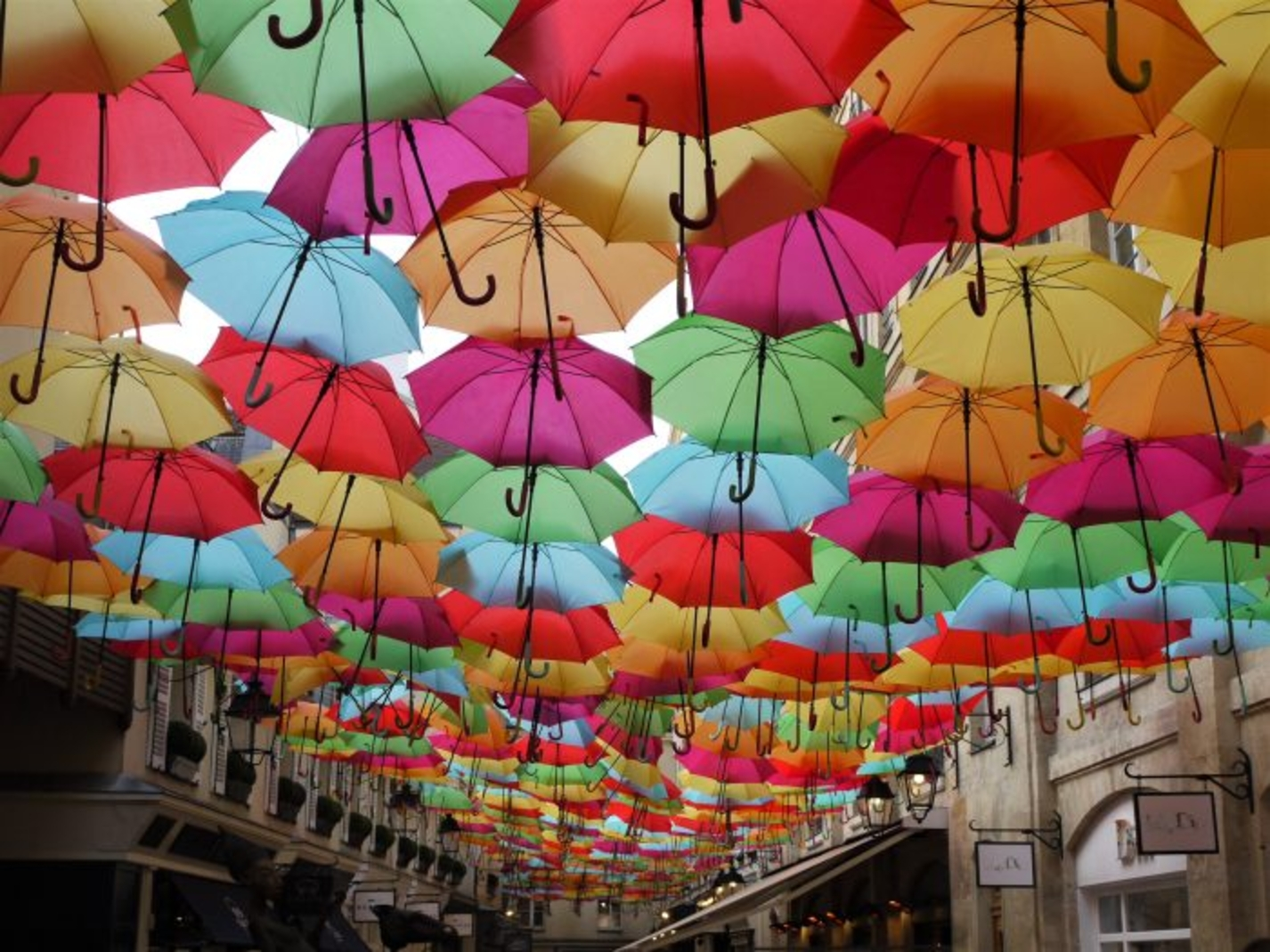 Only a few weeks to see the colorful umbrellas of the Village Royal!