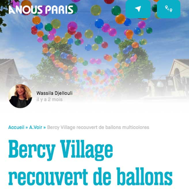Bercy Village covered with Bubble Sky! 0