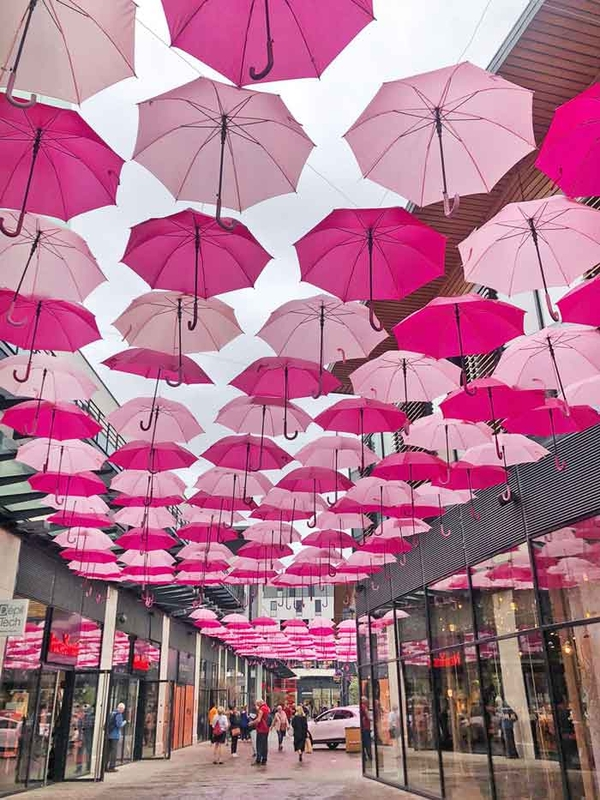 Pink Umbrella Sky Project - Bourges'191