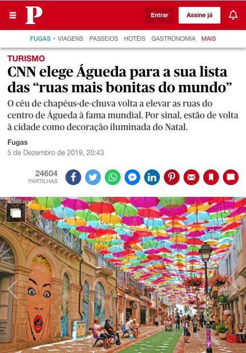 """CNN elege Águeda para a sua lista das """"ruas mais bonitas do mundo"""" 0"""