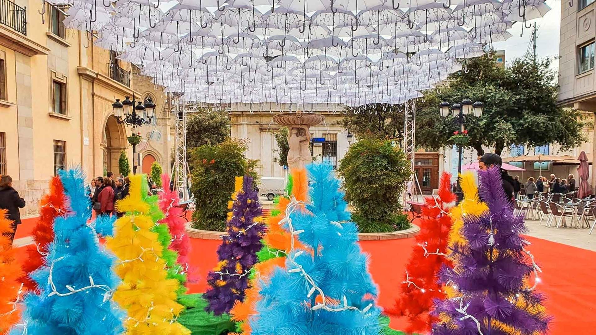 Christmas Umbrella Project in Castelló de La Plana
