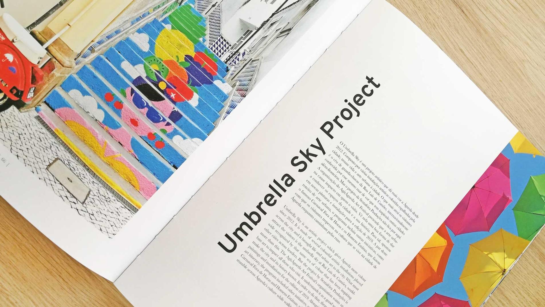 Umbrella Sky Project - Águeda's Business Card