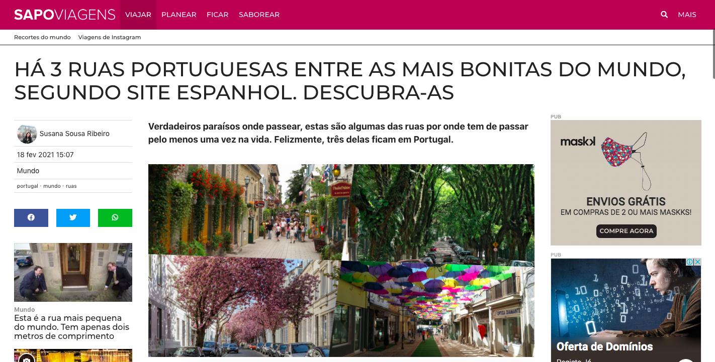 Há 3 ruas portuguesas entre as mais bonitas do mundo, segundo site espanhol 1