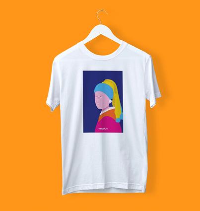 """T-shirt """"Rapariga com Brinco de Pérola"""""""