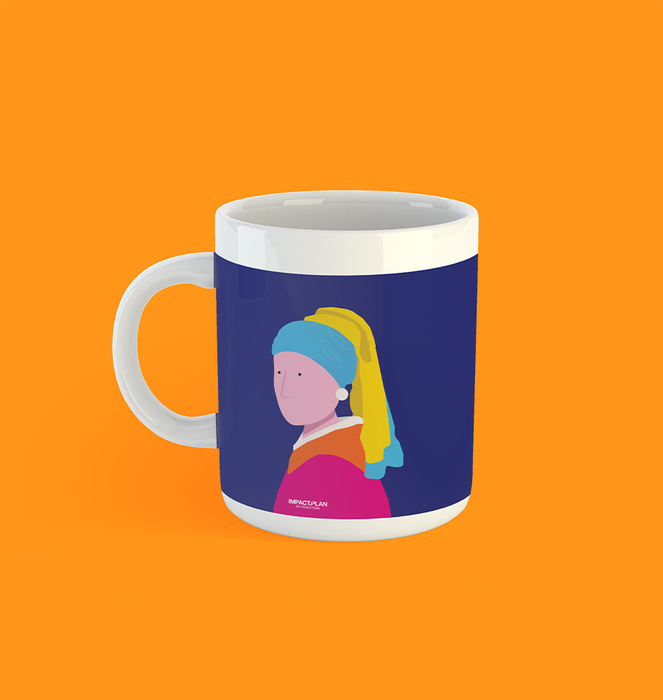 """Caneca """"Girl with a Pearl Earring"""" 1"""