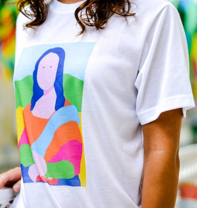 """T-shirt """"Mona Lisa"""" 4"""