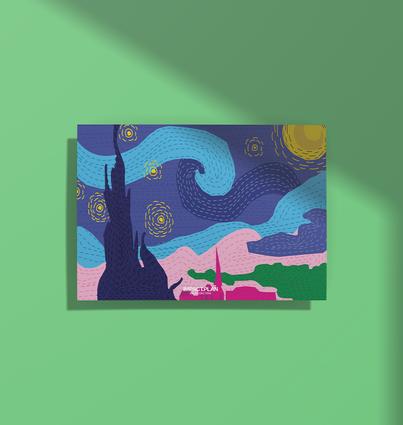 "Poster ""Starry Night"""