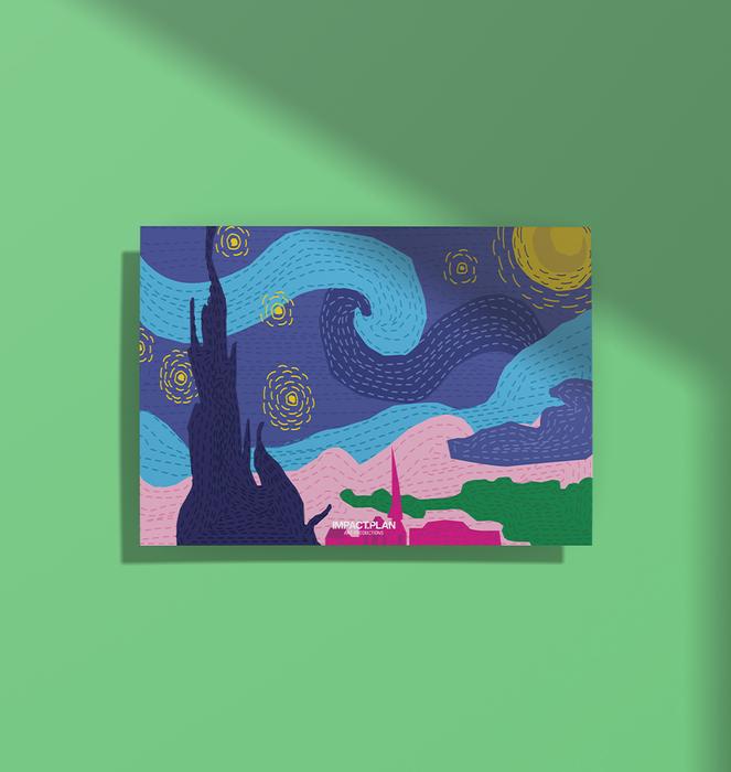 """Poster """"Noite estrelada"""" 0"""