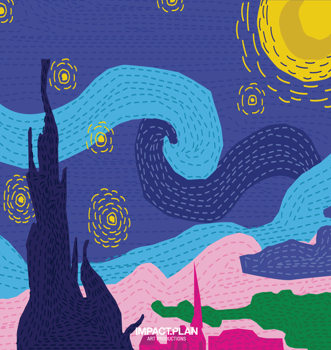 "Poster ""Starry Night"" 1"