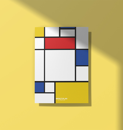 """Poster """"Composition with Red Blue and Yellow"""""""