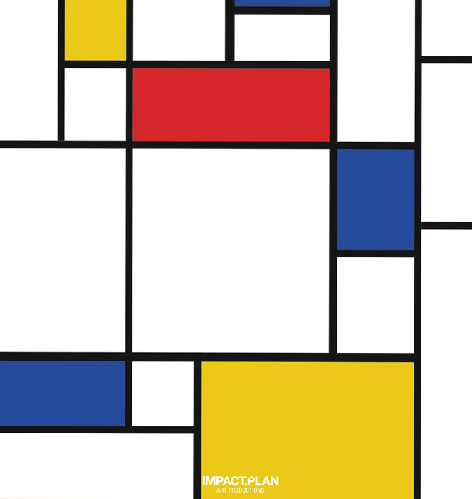 """Poster """"Composition with Red Blue and Yellow"""" 1"""