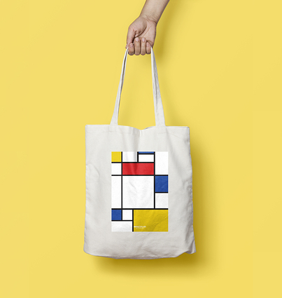 """Tote Bag """"Composition with Red Blue and Yellow"""""""