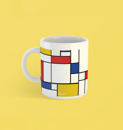 """Mug """"Composition of Red Blue and Yellow"""""""