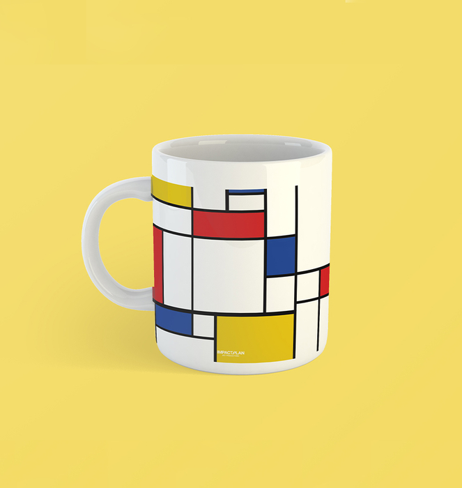 """Mug """"Composition of Red Blue and Yellow"""" 0"""