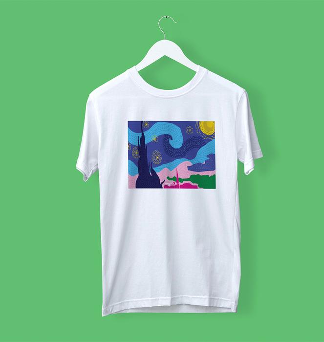 """T-shirt """"Noite Estrelada"""" 0"""