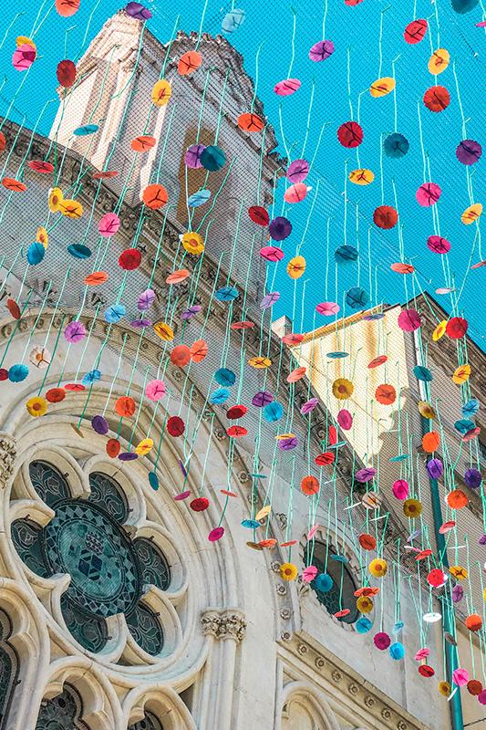 Umbrella Sky Project, Jardim Invertido - Carcassonne'2112